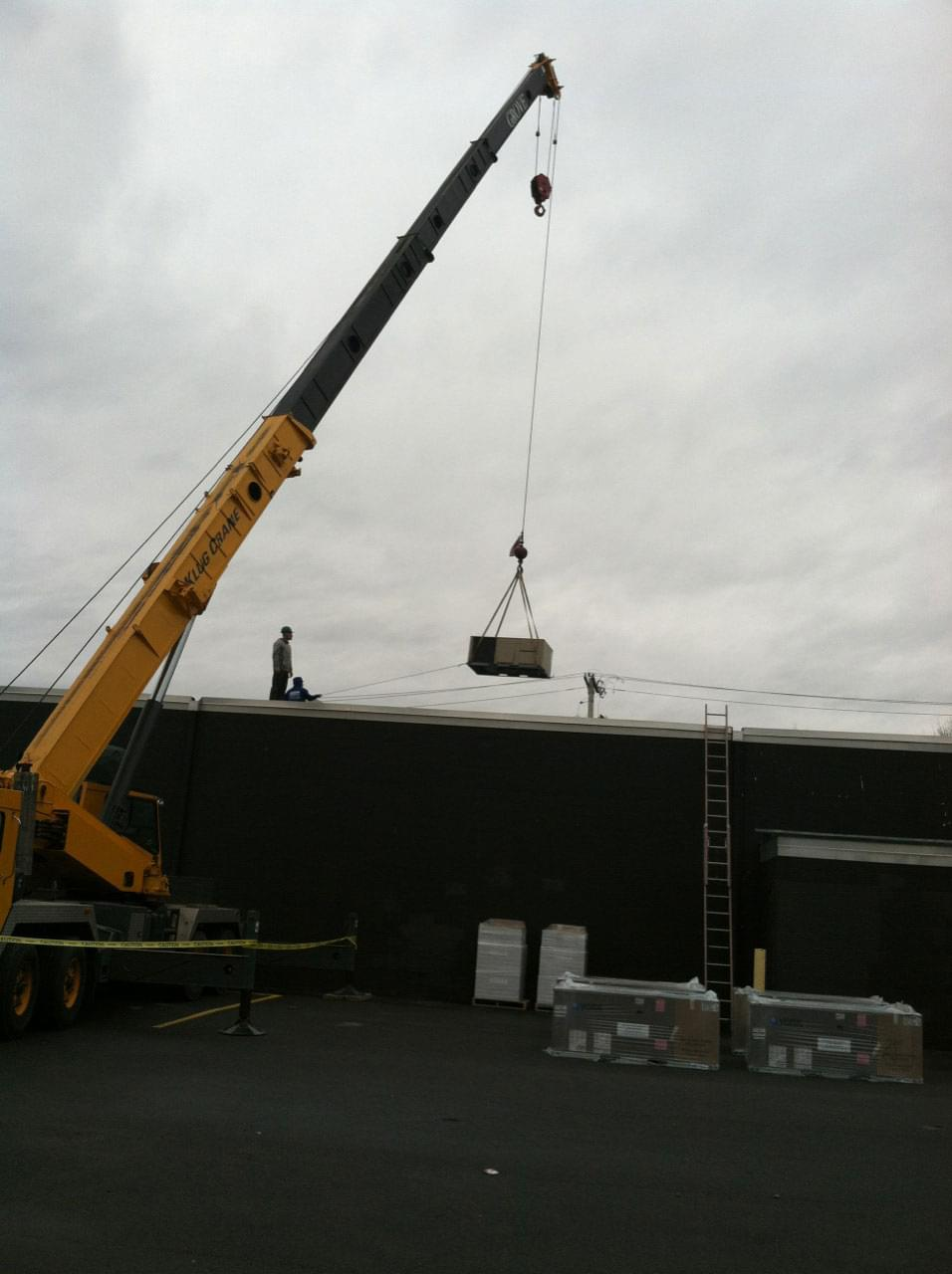Recent Commercial Roof Top Heating & Cooling Units Installation